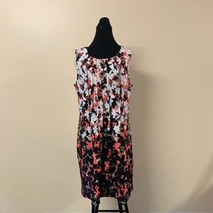 Perceptions Dress Size 12 Coral Beige Black White